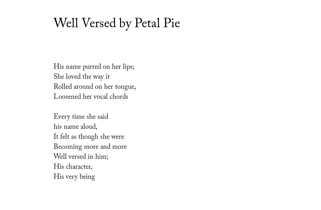 Fameless Quarterly Pleasure Well Versed By Petal Pie