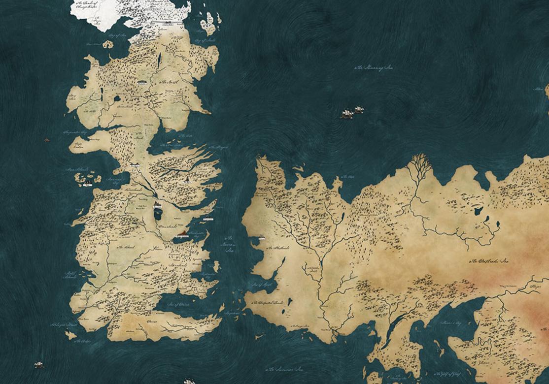 Gra O Tron Premiera Mapa Westeros