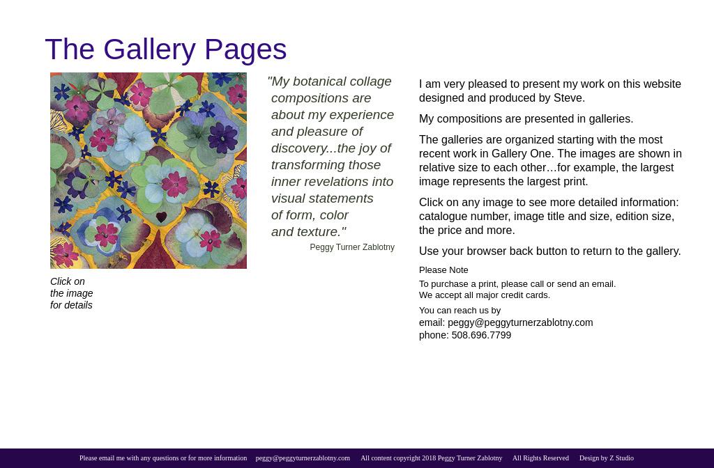 Peggy Turner Zablotny Artist — Page Title