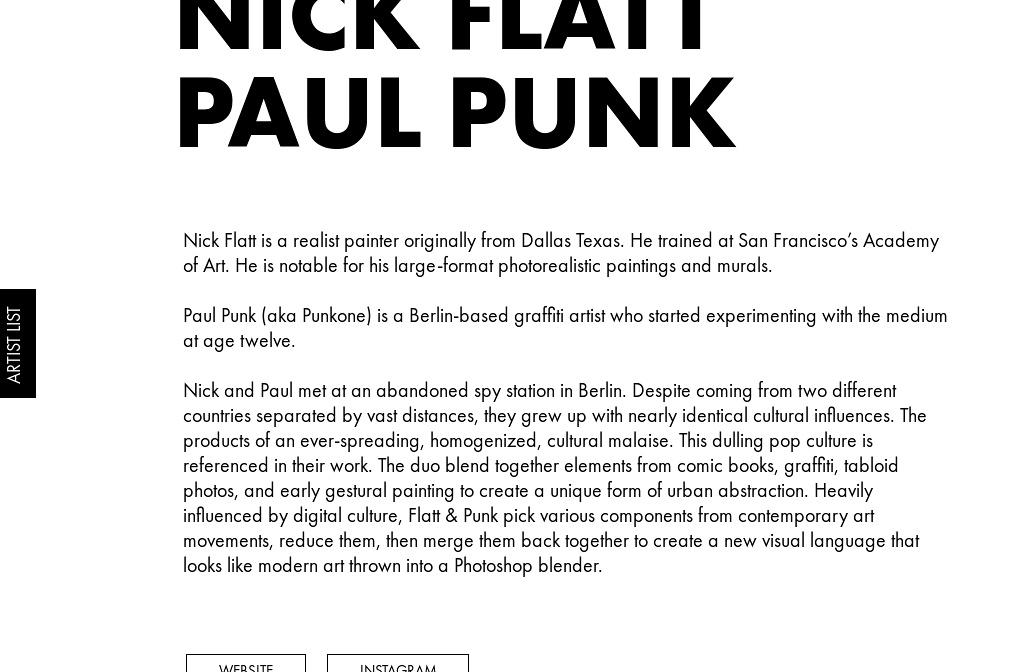 Irskiymag Rad Series Vol 1 Nick Flatt Paul Punk Bio