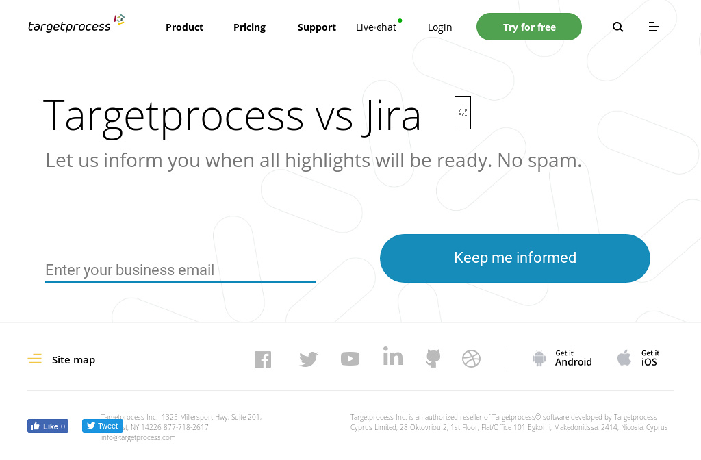 Targetprocess vs Jira