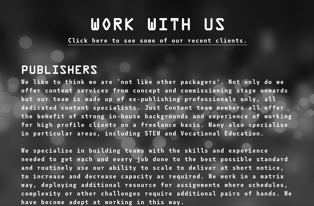 Just Content Freelance Editorial And Publishing Consultancy Services