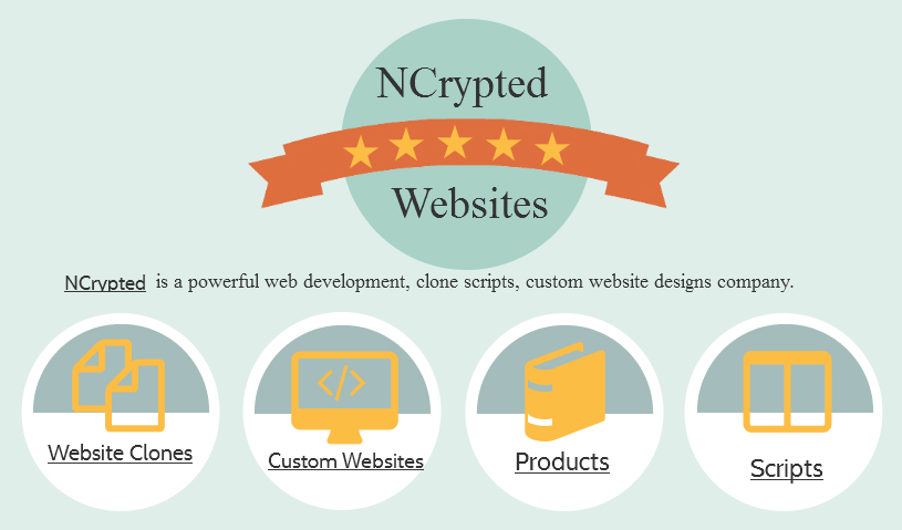 NCrypted Web and Apps - Clone Scripts
