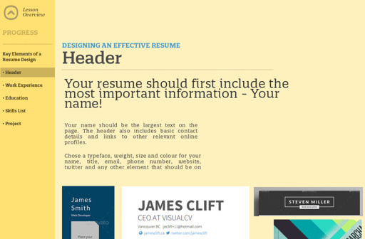 MCOM 3 - Designing an effective resume