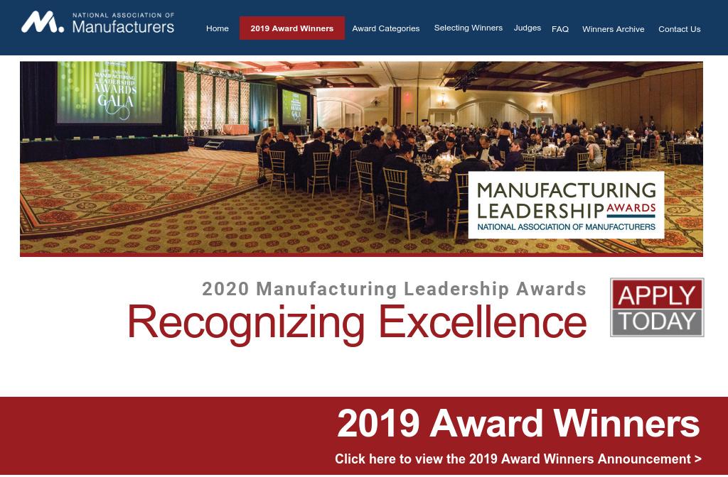 Manufacturing Leadership Awards — 2019 Winners