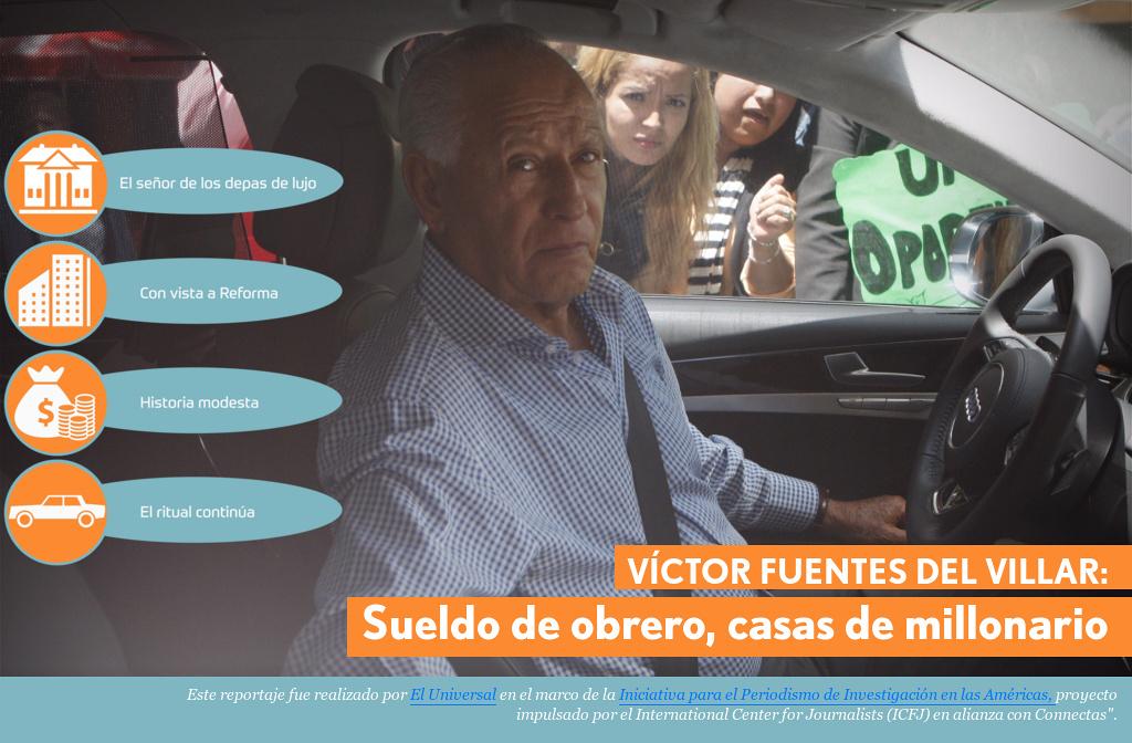 VÍCTOR FUENTES DEL VILLAR Sueldo de obrero, casas de millonario\' by ...