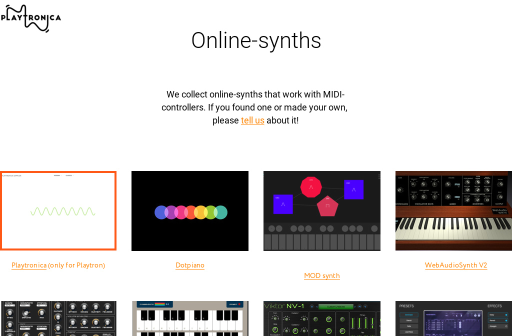 Online Synths