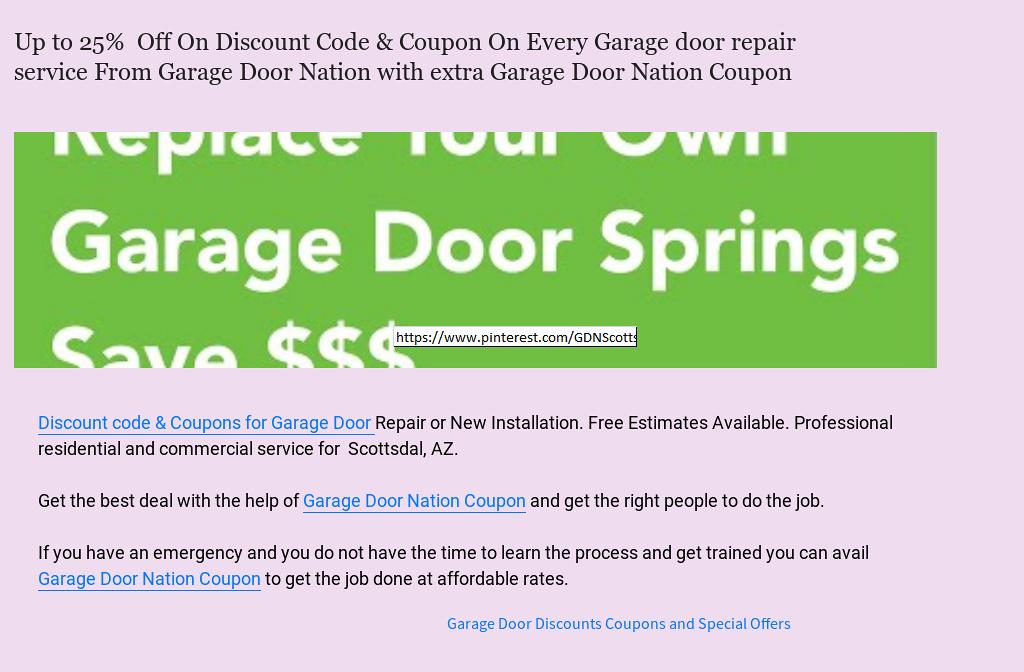 U0027Up To 25% Discount Coupon On Every Garage Door Repair Service From Garage  Door Nation With Extra Garage Door Nation Couponu0027 By Garage Door Nation |  ...