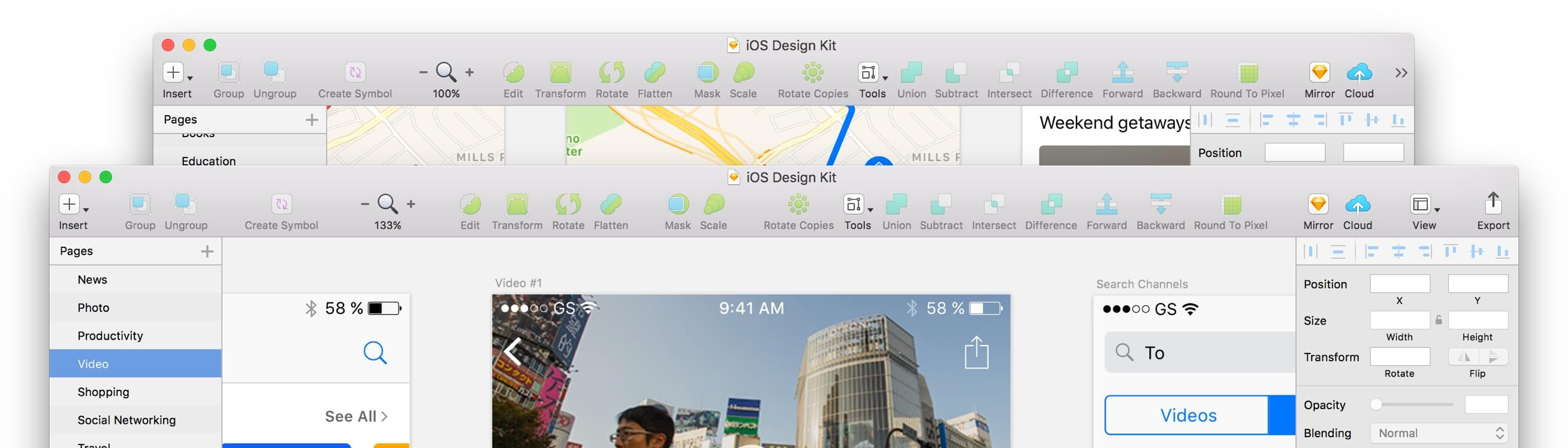 iOS Design Kit – Library of iOS app templates and UI elements