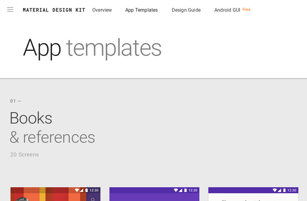Material design kit app templates maxwellsz