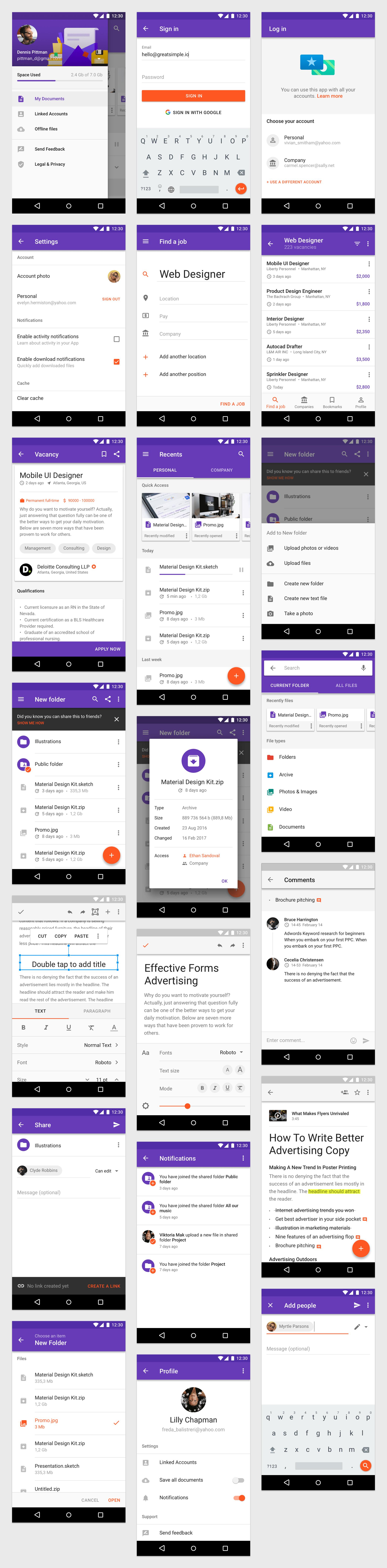 Material Design Kit - App Templates