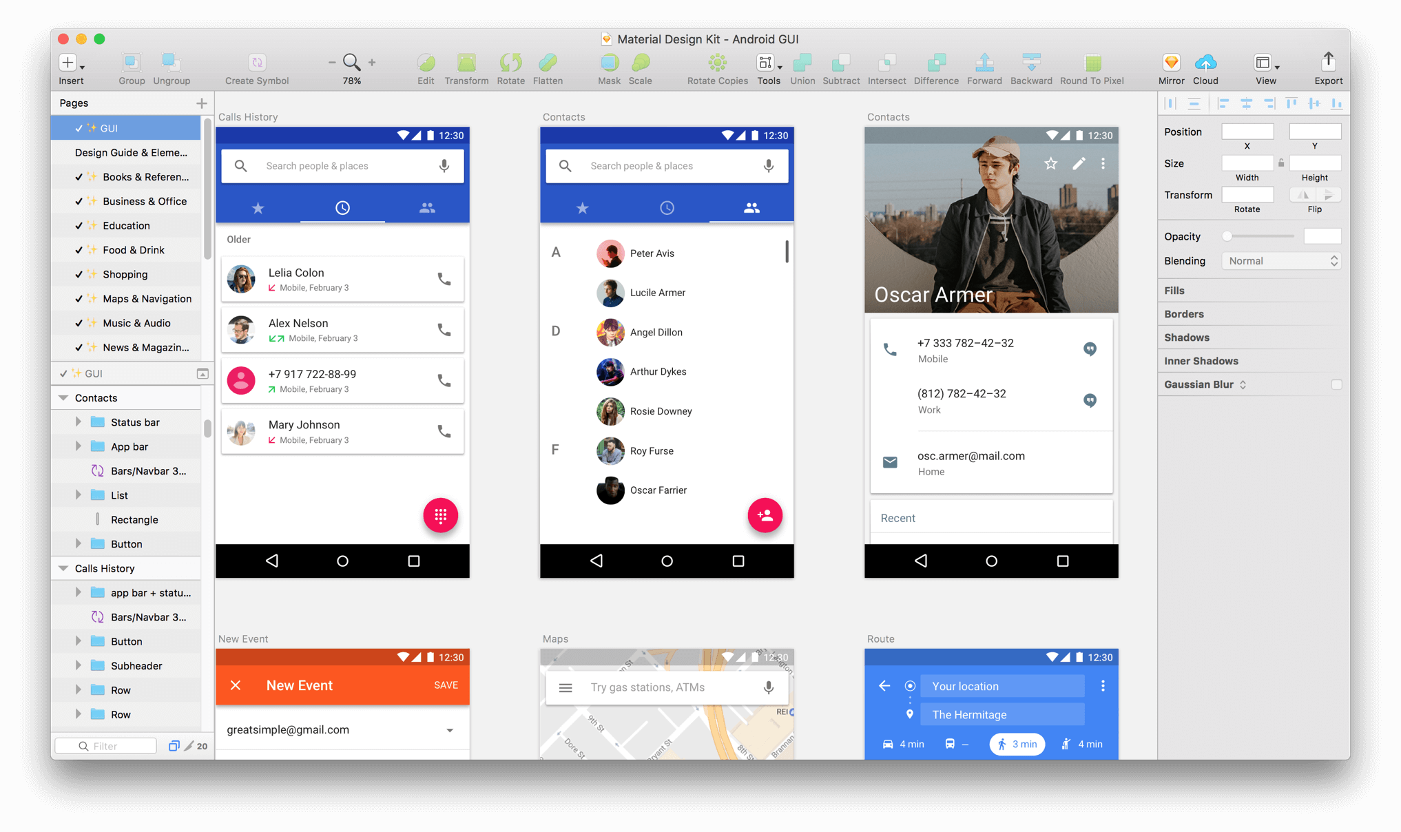 Android GUI - Material Design Kit