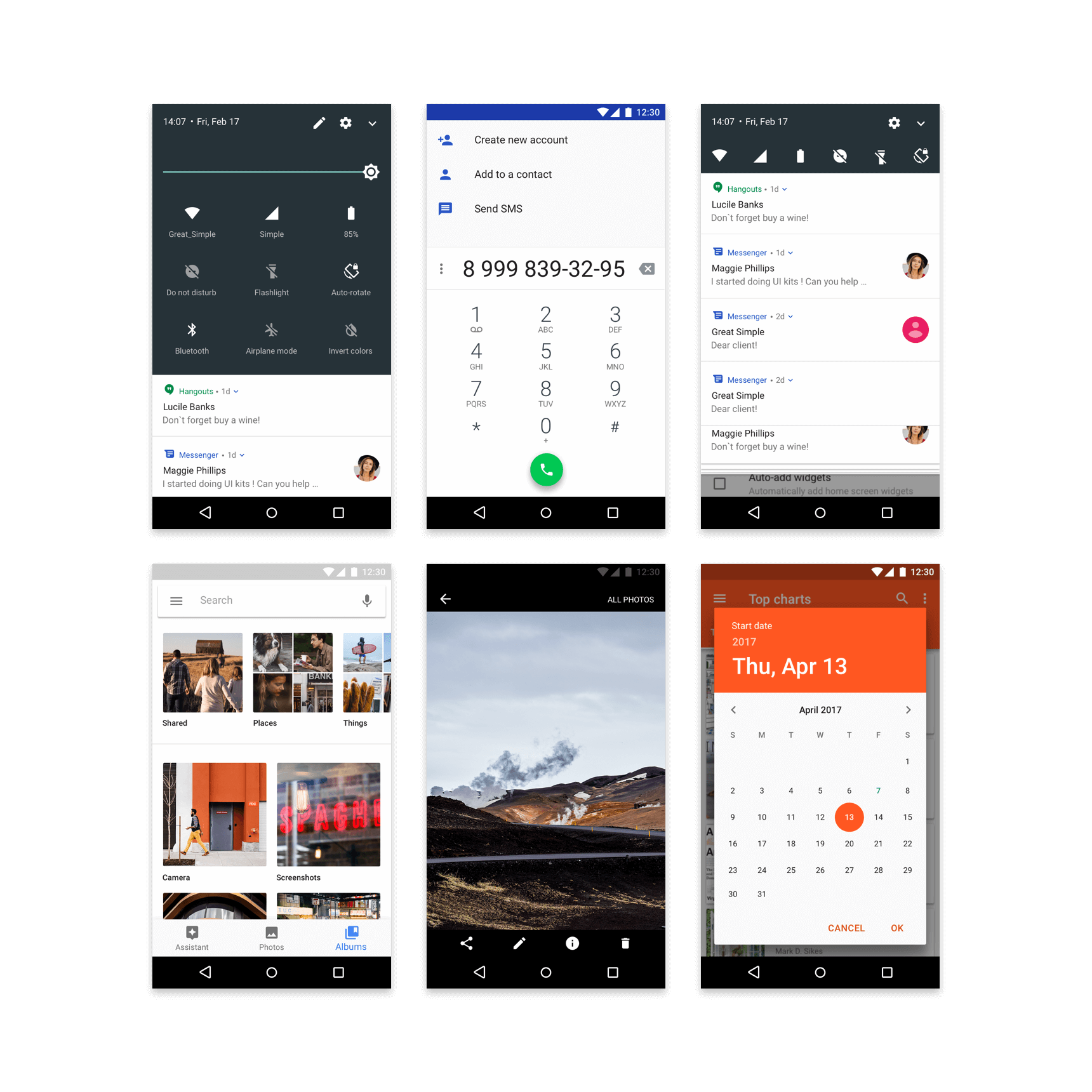 Material Design Kit - Android GUI