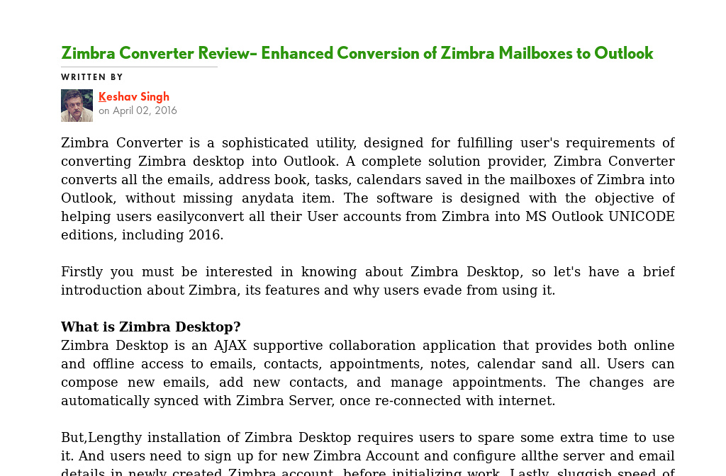 Zimbra Desktop Review