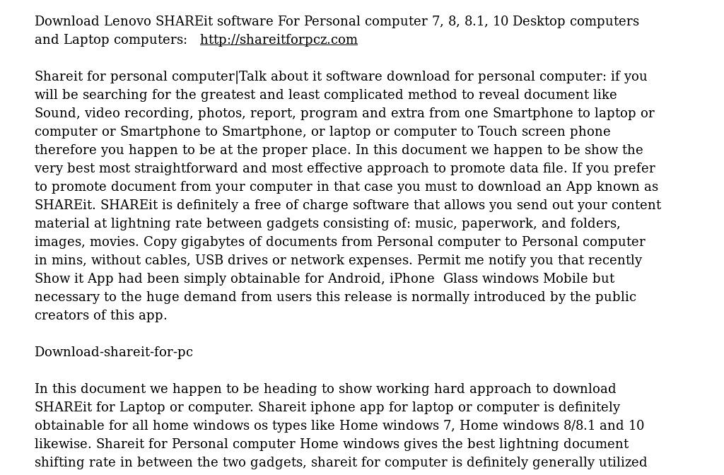 download shareit for pc windows 7 lenovo