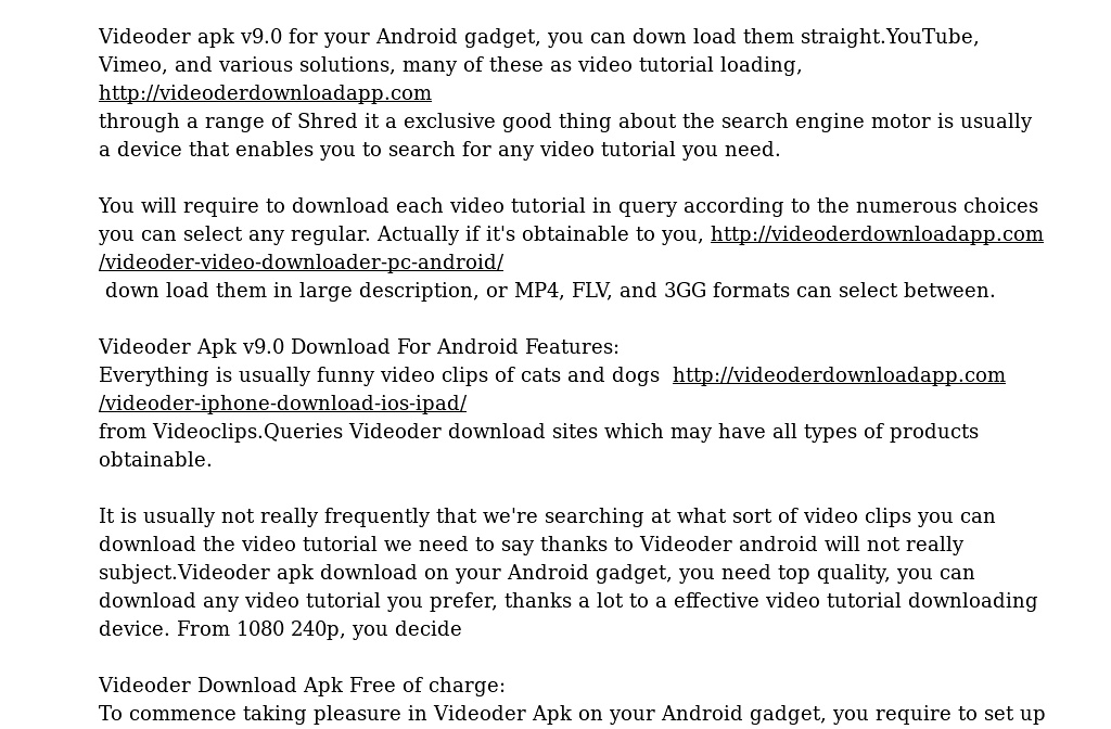 videoder video downloader for pc