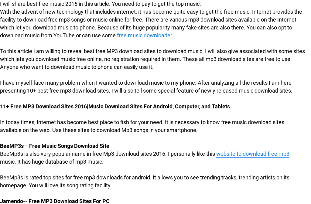 Best Music Downloading Websites of 2016