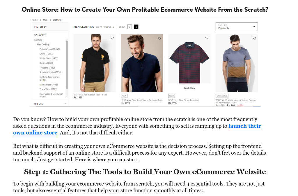Online Store How To Create Your Own Profitable Ecommerce Website
