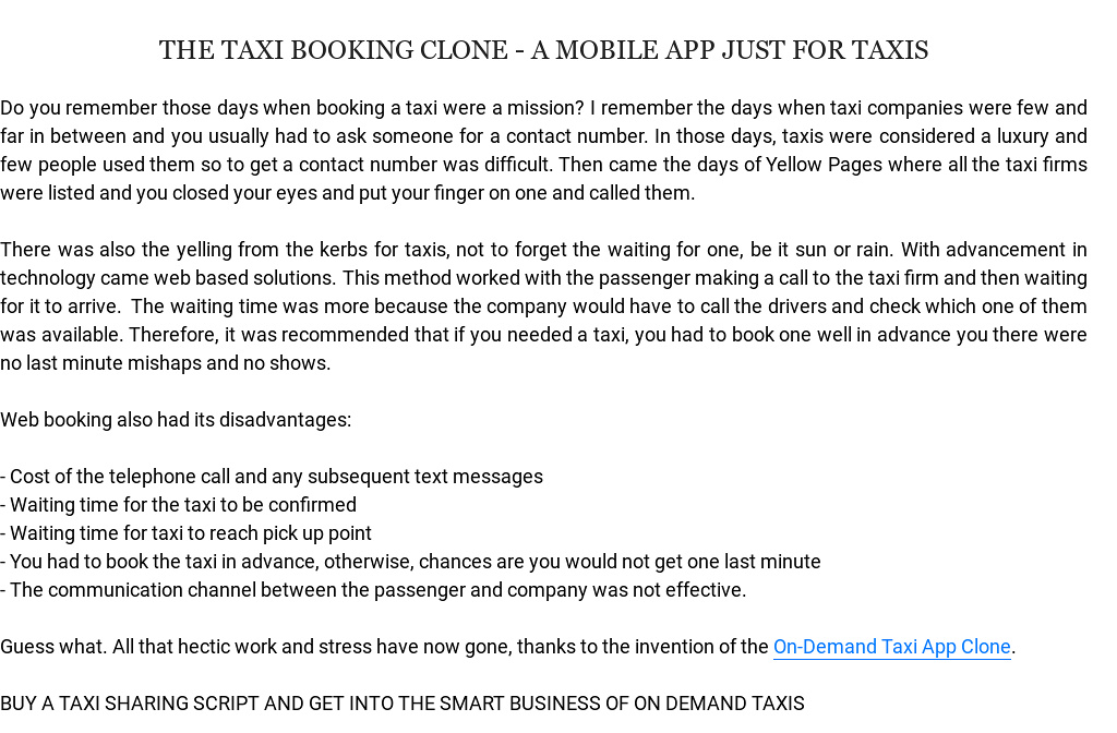 Taxi Sharing Clone