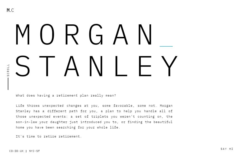 Morgan Stanley - Retirement