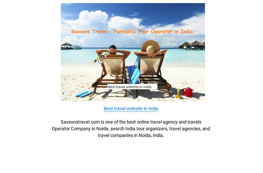Best travel website in india