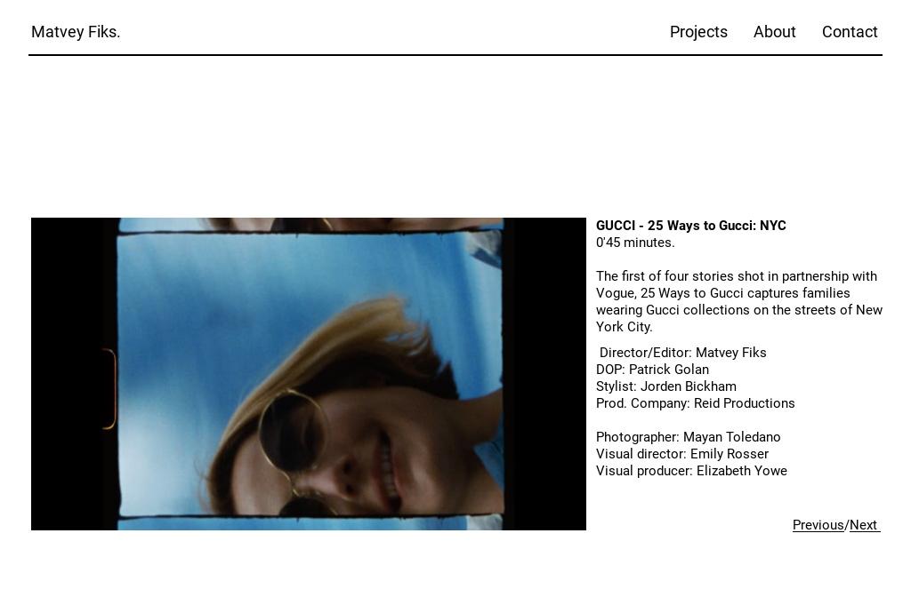 013bf737fb2 Matvey Fiks. — gucci