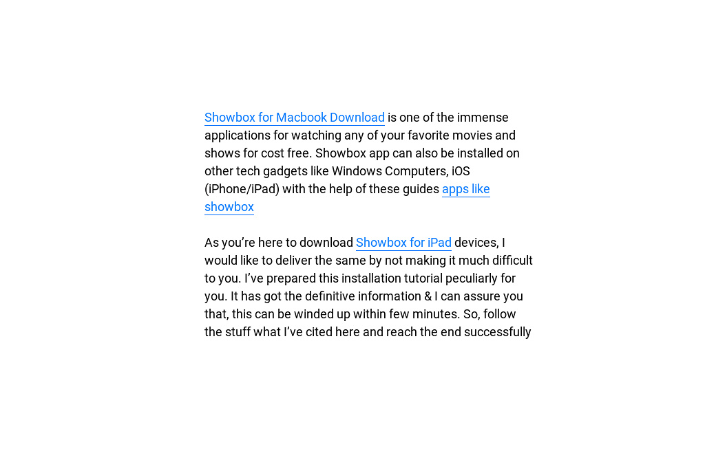 apps like showbox for iphone