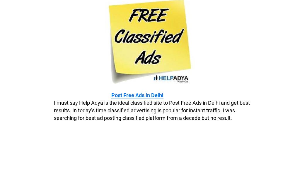 Post Free Ads in Delhi