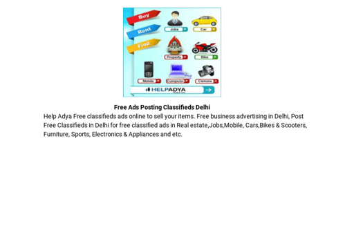 Free Ads Posting Classifieds Delhi