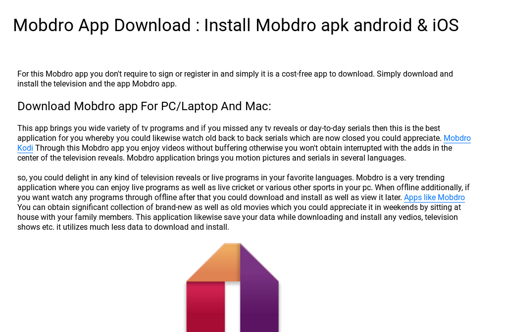 download mobdro ios