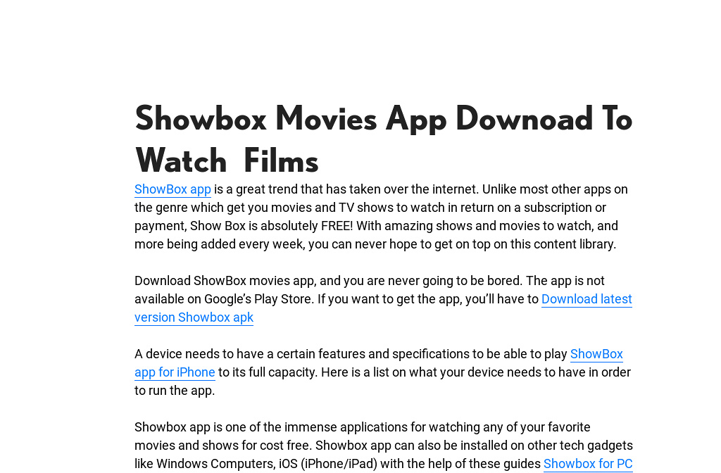 newest version of showbox app