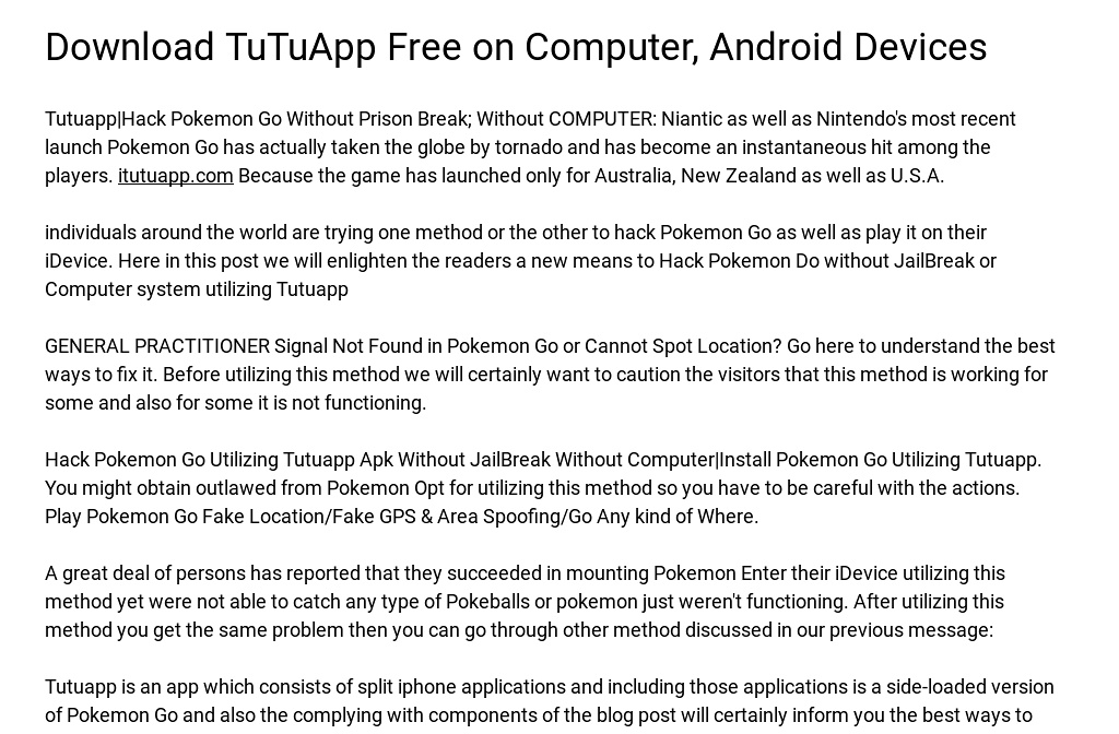 Download TuTuApp Free on Computer, Android Devices
