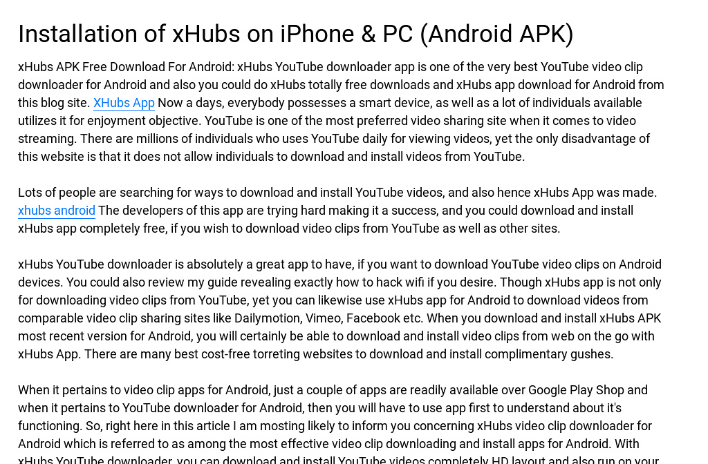 Installation Of Xhubs On Iphone Pc Android Apk