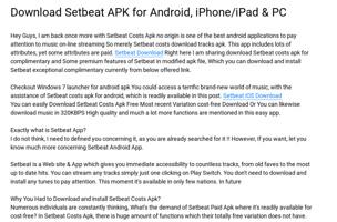 descargar setbeat apk para iphone
