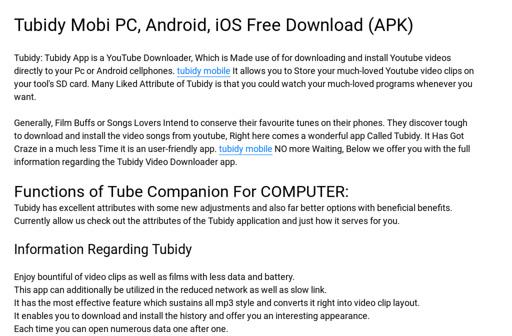 Tubidy Mobi PC, Android, iOS Free Download (APK)