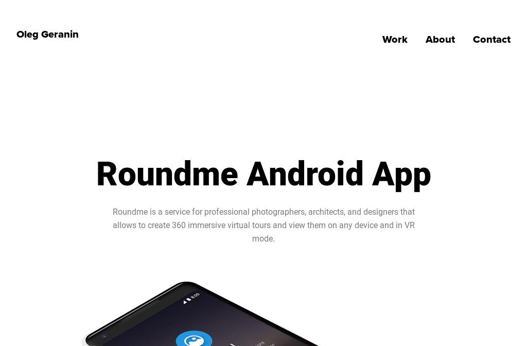 Work - Oleg Geranin Portfolio — Roundme Android