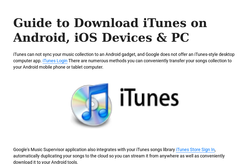 download itunes for pc