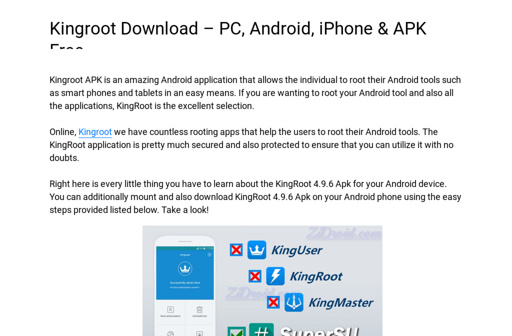 Kingroot download – pc, android, iphone & apk free.