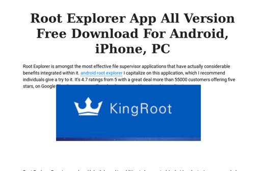 Root explorer download | pc windows ios mac iphone | root.