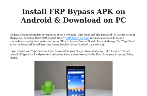 Install FRP Bypass APK on Android & Download on PC