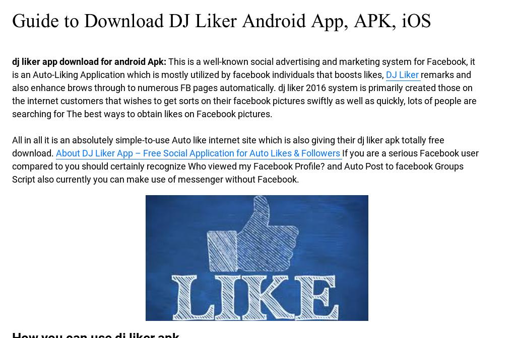 Dj liker app download apk | Dj Liker APK Download  2019-02-19