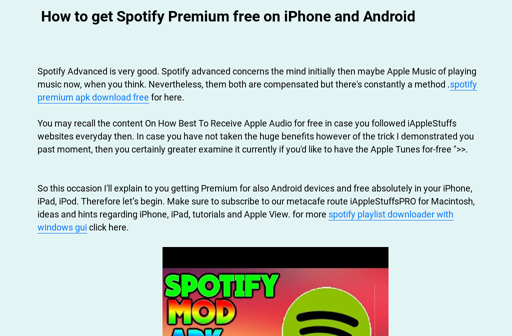 How to make a free music playlist on iphone