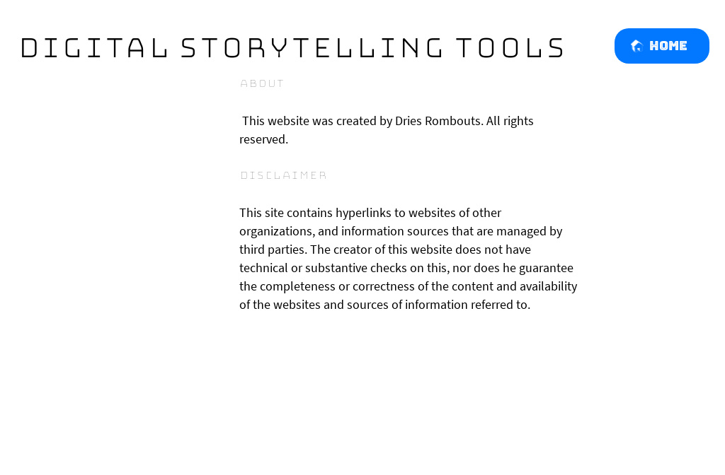 Digital Storytelling Tools — About