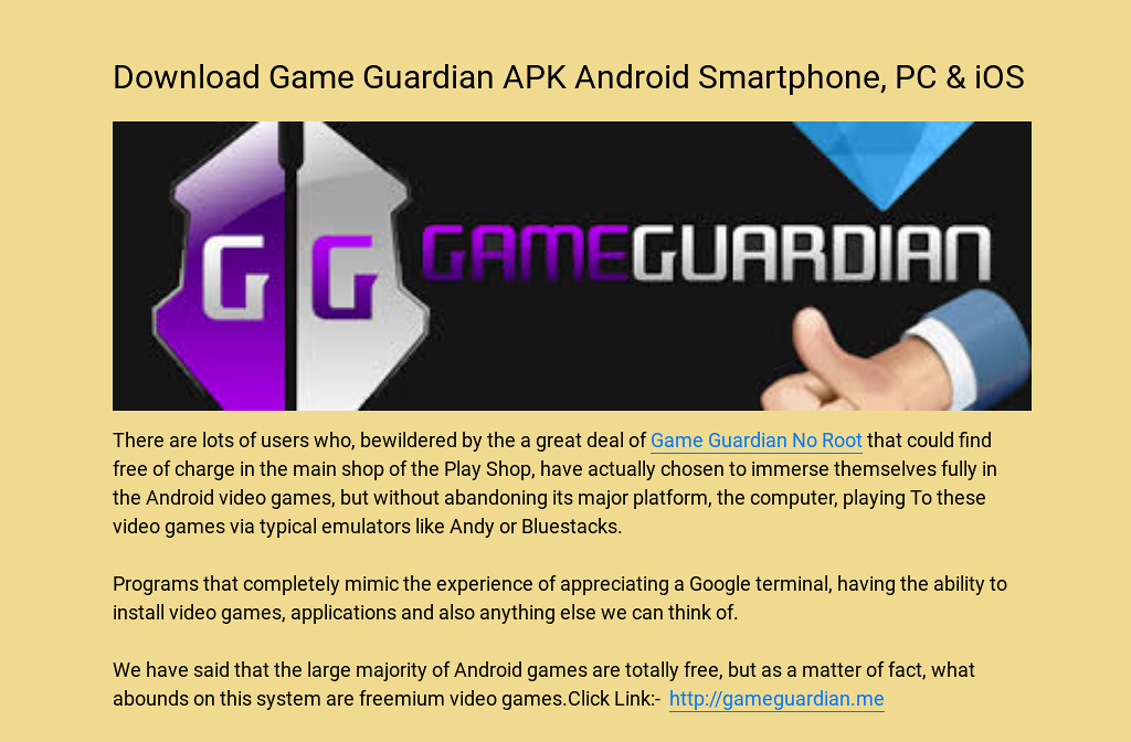 Download Game Guardian Apk Android Smartphone Pc Ios
