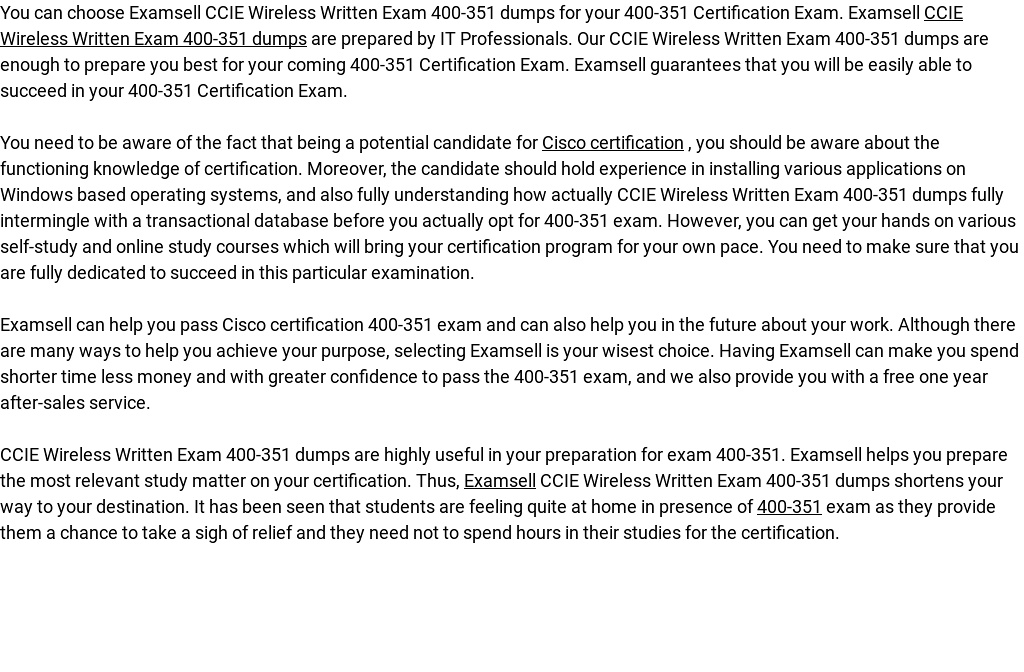 Ccie Wireless Written Exam 400 351 Dumps By Examsell Readymag