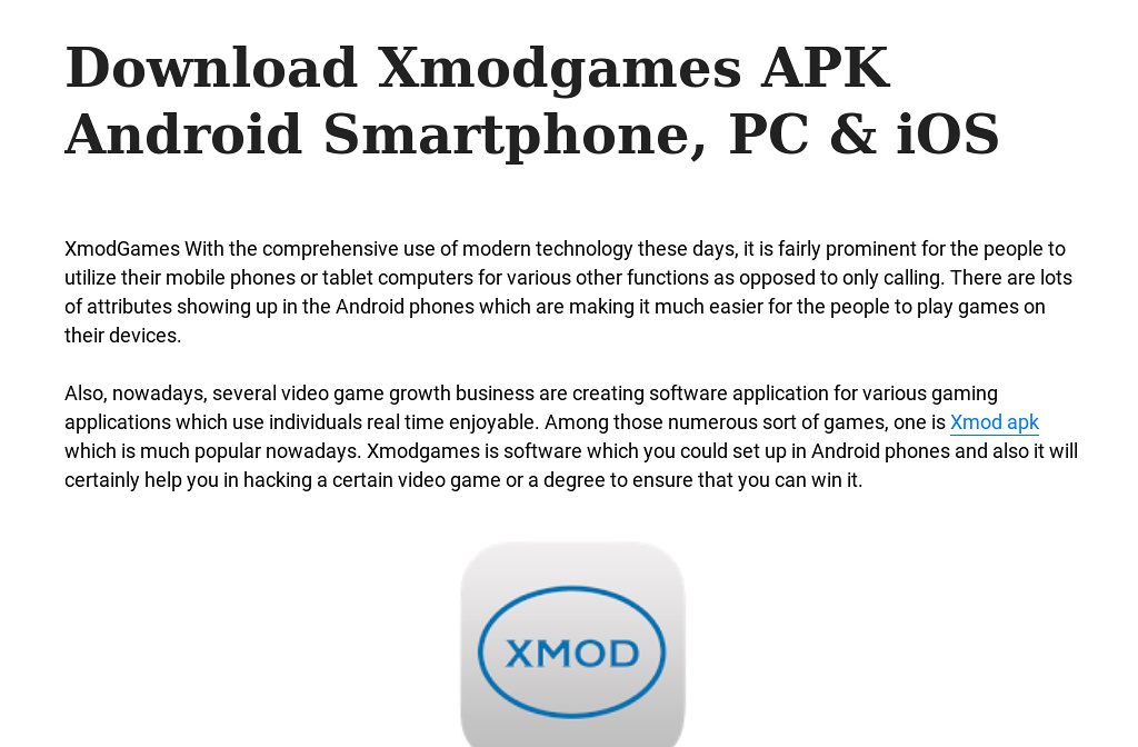 Download Xmodgames APK Android Smartphone, PC & iOS