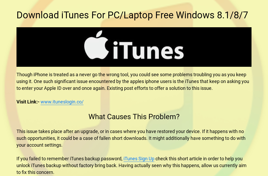 how to download itunes on windows laptop