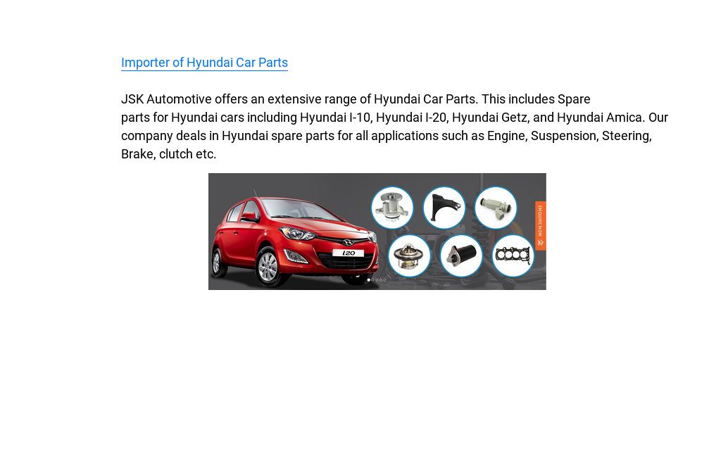 Importer of Hyundai Car Parts