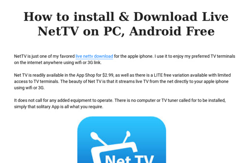 How to install & Download Live NetTV on PC, Android Free
