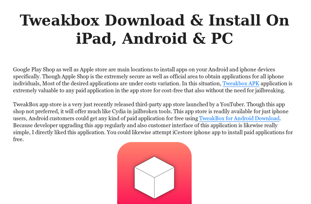 tweakbox apk download for pc